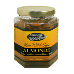 Raw, Wild Almonds in Raw Honey