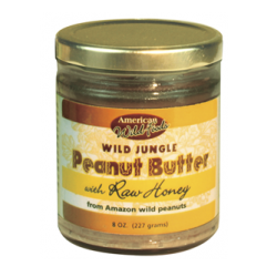 Jungle Peanut Butter with Raw Honey 8 OZ